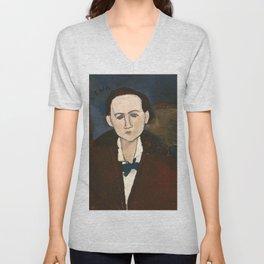 "Amedeo Modigliani ""Elena Povolozky"" Unisex V-Neck"