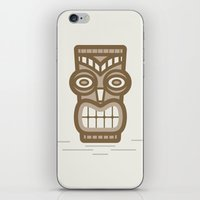 tiki iPhone & iPod Skins featuring Tiki by CaseyIllustrates