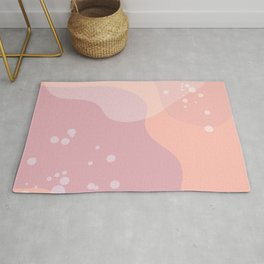 pink champagne Rug