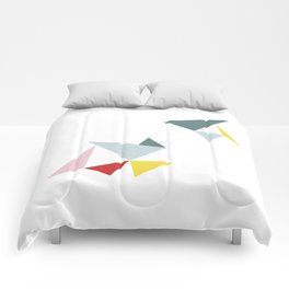Triangles in the Sky Comforters