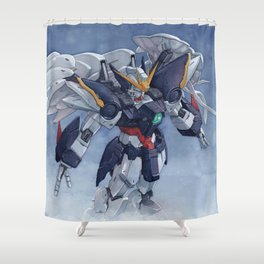 Gundam wing Zero cut ver. Shower Curtain