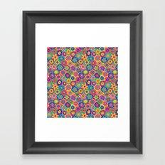 Millefiori-Crayon Colors Framed Art Print