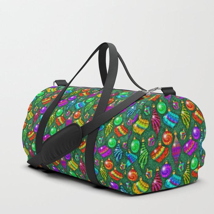 Tie Dye Holiday Ornaments Duffle Bag