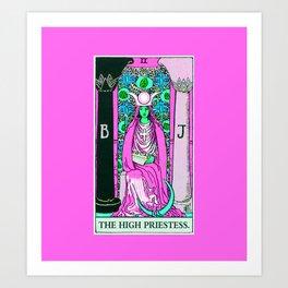 2. The High Priestess- Neon Dreams Tarot Art Print