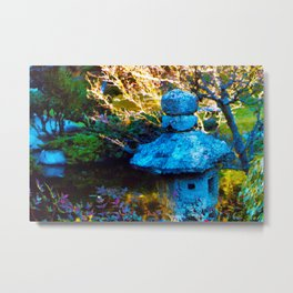 Japanese Painted Garden Metal Print