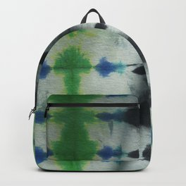 Tie Dye in Blue and Green 1 Backpack
