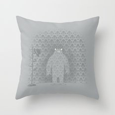 The Wall Monster Throw Pillow
