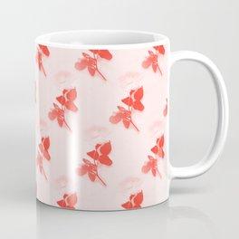 Vintage rose pattern in living coral Coffee Mug