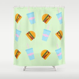 Burger & Soda Shower Curtain