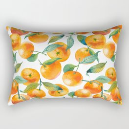 Mandarins With Leaves Rectangular Pillow