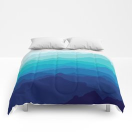 Blue Mist Mountains Comforters