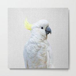 White Cockatoo - Colorful Metal Print