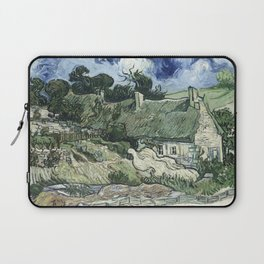 Vincent Van Gogh - Thatched Cottages at Cordeville Laptop Sleeve