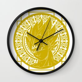 Stained Glass - Dragonball - Majin Vegeta Wall Clock