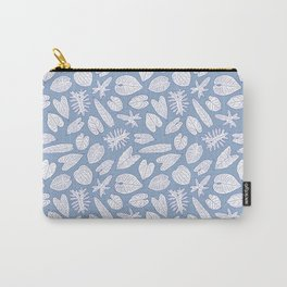 Tropical Houseplant Aroid Leaves Line Art Carry-All Pouch