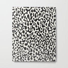 Black Ghostly Spill Metal Print