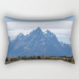 Teton Mountains with a Morning Cloud Rectangular Pillow