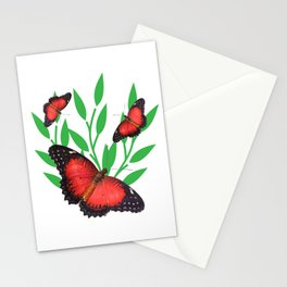 Red Lacewing Butterflies Stationery Cards