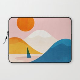 Abstraction_Lake_Sunset_Minimalism_002 Laptop Sleeve