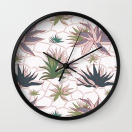 Agave Flower Wall Clock