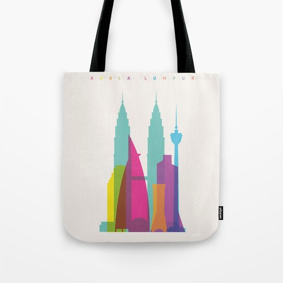 Shapes of Kuala Lumpur. Accurate to scale Tote Bag