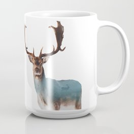Deer Double Exposure Coffee Mug