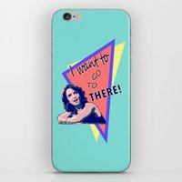 """30 rock iPhone & iPod Skins featuring """"I want to go to there!"""" (30 Rock) by Galit Zeierman"""
