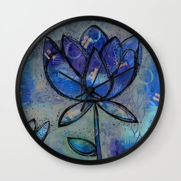 Abstract - Lotus flower - Intuitive Wall Clock