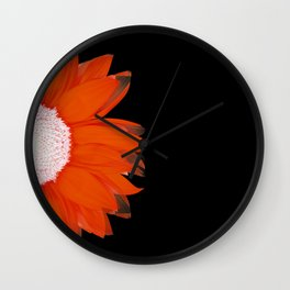 portrait of summer - red black Wall Clock