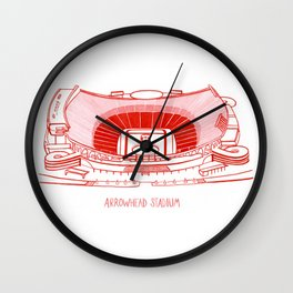 Arrowhead Stadium Wall Clock
