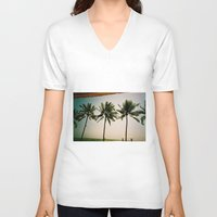 indonesia V-neck T-shirts featuring La Luciola palms, Bali, Indonesia  by Kim Barton