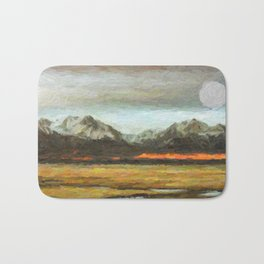 Abstract Andean Landscape Bath Mat