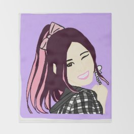 Knock Knock! Sana Purple Throw Blanket