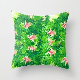Monet's Garden Leggings Throw Pillow