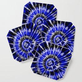 Dark Blue Tie Dye Coaster