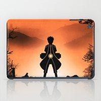 kakashi iPad Cases featuring Naruto - Nine Tails Chakra Mode by Kesen