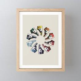 Jordan Wheel Framed Mini Art Print