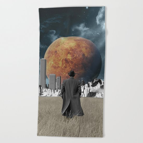 Out of the past & into the future Beach Towel