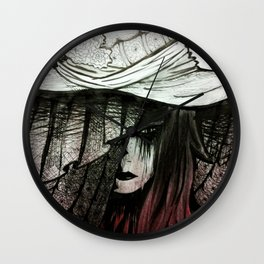 Daughter's Funeral Veil Wall Clock