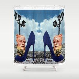 Carnival heel Shower Curtain