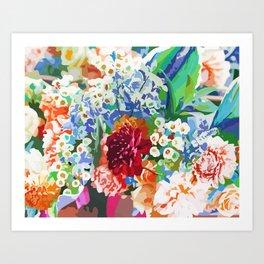 Bloom With Grace #illustration #botanical Art Print