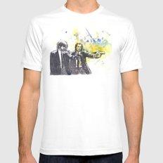 Pulp Fiction MEDIUM White Mens Fitted Tee