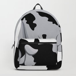 Cow chewing flower Backpack