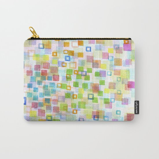 Raining Squares and Frames Carry-All Pouch