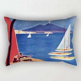 Napels Italy retro vintage travel ad Rectangular Pillow