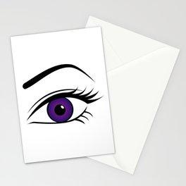 Violet Left Eye Stationery Cards