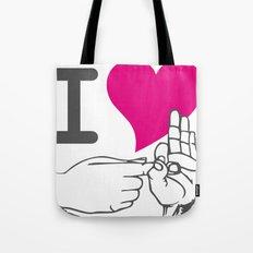 I LOVE TO F**K Tote Bag