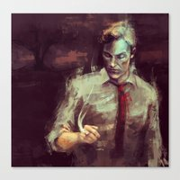 true detective Canvas Prints featuring True Detective by nlmda