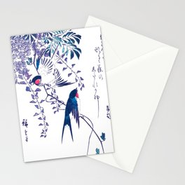 Swallow and Wisteria Stationery Cards
