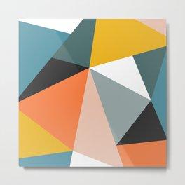 Modern Geometric 36 Metal Print